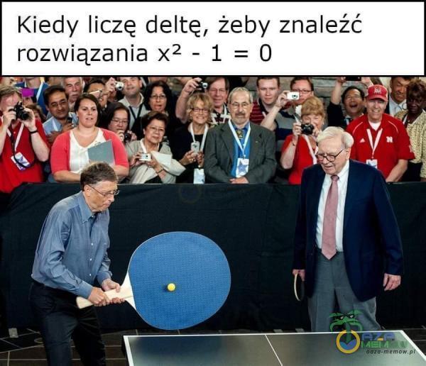 Kiedy liczę deltę, żeby znaleźć rozwiązania x -1=0
