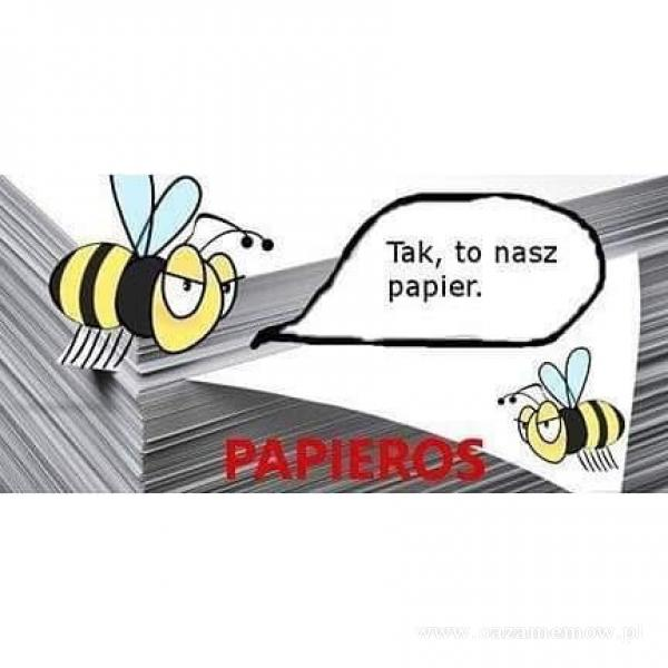 Tak, to nasz papier.