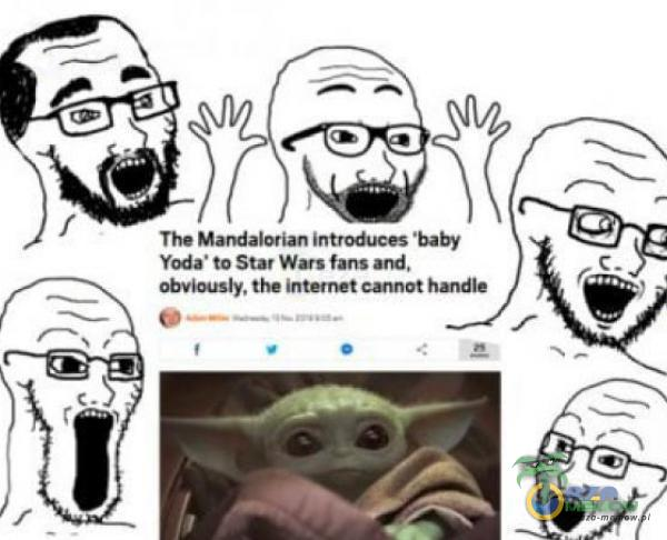 The Mandalorian introduces baby Yoda• to Star Wars fans and, obviously. the internet hxtdle