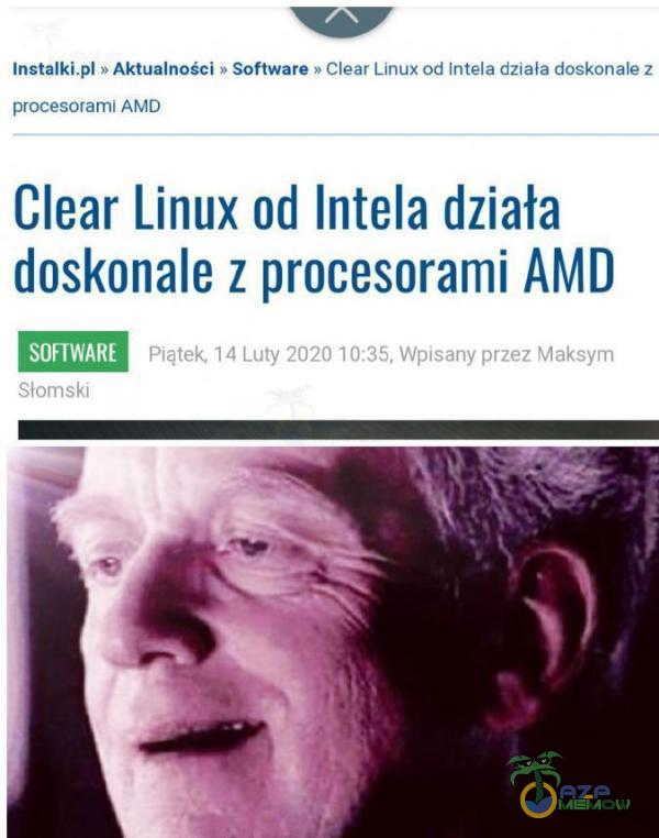 "w anlalkl ›Ekwalncud So lwma Slam ulu» :ull lvl!-""nadflma dup-«mje; "";.m "" :|"""" Mau Clear Linux ud Intela działa doskonale z prucesnrami AMD"