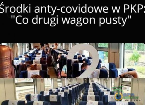 """Środki anty-covidowe w PKP; Co drugi wagon pusty"""""""