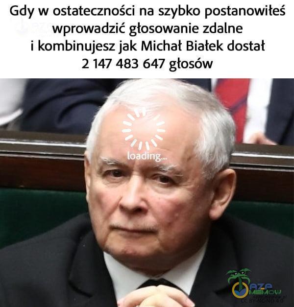 Gdy w ostateczności na szybko postanowiłeś wprowadzić głosowanie zdalne i kombinujesz jak Michał Białek dostał 2 147 483 647 głosów