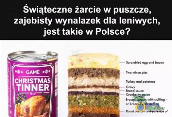 Świąteczne żarcie w puszcze, zaj***sty wynalazek dla leniwych, jest takie w Polsce? CHRISTMAS TINNER por.*