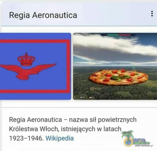 Regia Aeronaufica Regia Aeronsutica - nazwa si powietrznych Krelestwa Włoch, Istalejących w latach 1923 -1946, Wiktpredia