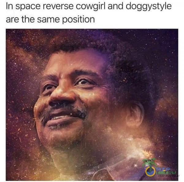 In space reverse cowgirl and doggystyle are the same position