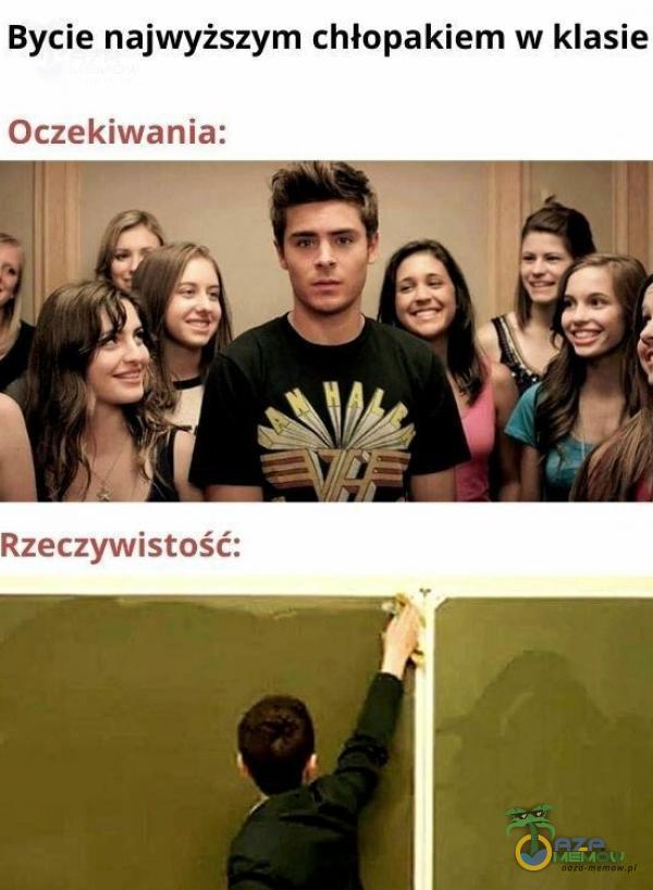 Bycie najwyższym chłopakiem w klasie Oczekiwania: