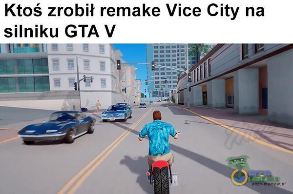 Ktoś zrobił remake Vice City na silniku GTĄ V E