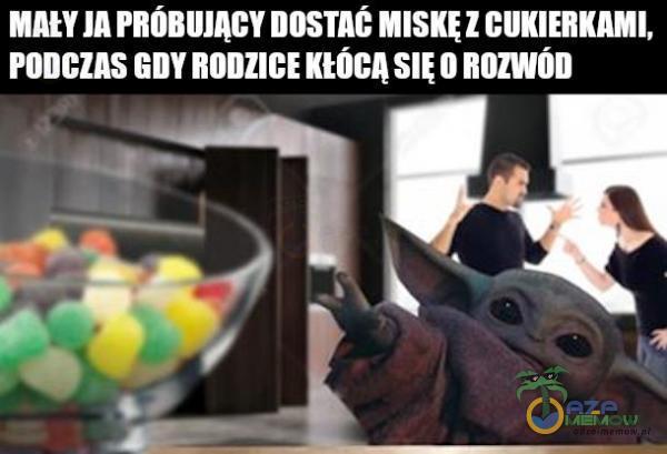JA DOSTAt Z CUKIERKAMI, PODCZAS SIUROZWÓD