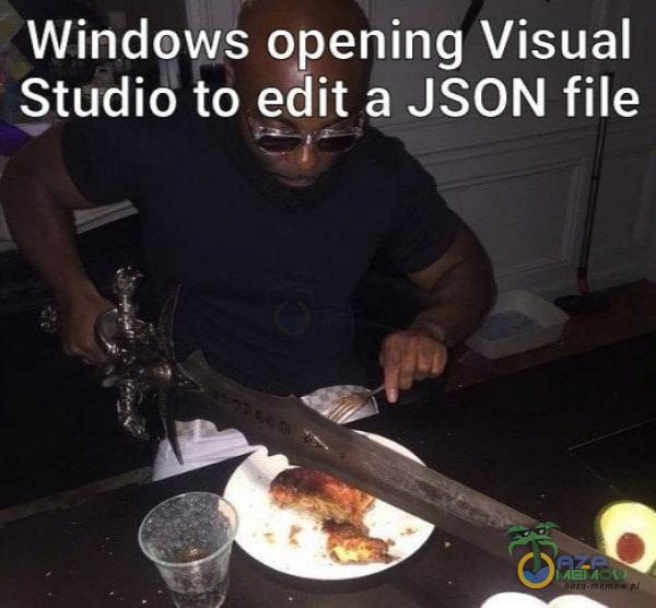 Windows opening Visual Studio to edit a JSON file