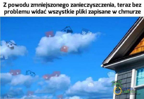 Z powodu zmniejszonego zanieczyszczenia, teraz bez problemu widać wszystkie iki zapisarie w chmurze