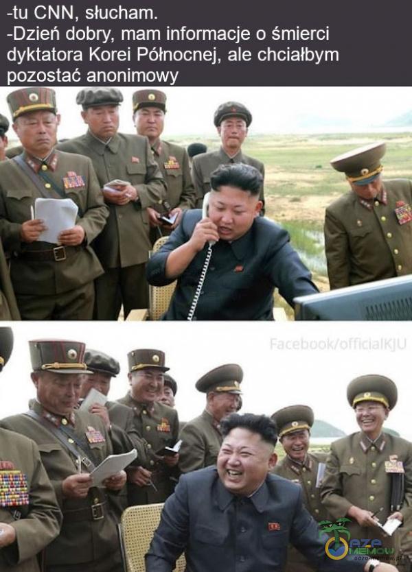 -tu GNN, słucham. -Dzień dobry, mam informacje.» śmierci dyktatora Korei Północnej, ale chciałbym pozostać anonimowy