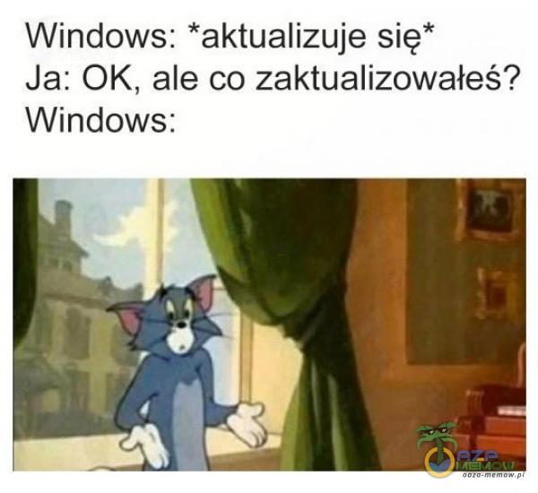 """Windows: *aktualizuje się"""" Ja: OK, ale co zaktualizowałeś? Windows:"""