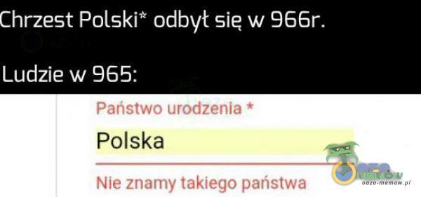 """hrzest Polski"""" odbvk się w BEGr, Ludzie «.A/955: Polska"""