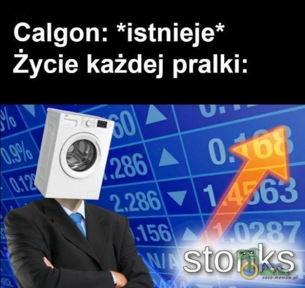 Calgon: *istnieje* Życie każdej pralki: