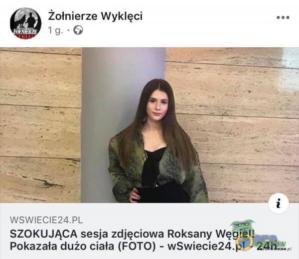 Żołnierze Wyklęci SZOKUJĄCA sesja zdjęciowa Roksany Węgiel! Pokazała dużo ciała (FOTO) - wSwiecie24 -