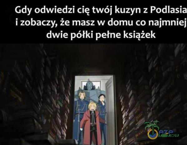 Gdy odwiedzi cię twój kuzyn z Podlasia i zobaczy, że masz w domu co najmniej dwie półki pełne książek