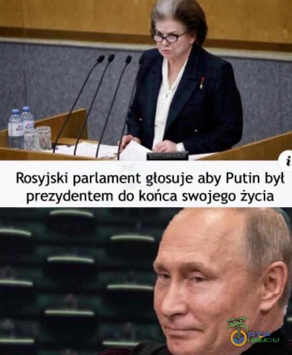 Rosyjski parlament glosuje aby Putin był ydentem do końca swojego życia