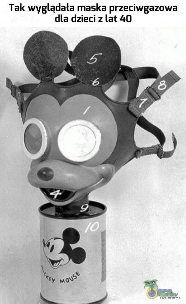 Tak wyglądała maska przeciwgazowa dla dzieci z lat 40