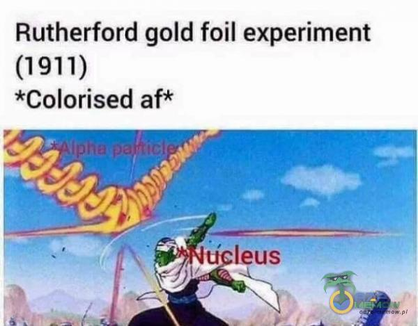 Rutherford gold foil experiment (1911) *Colorised af*