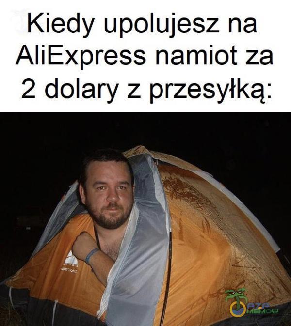 Kiedy upolujesz na AliExpress namiot za 2 dolary z przesyłką: