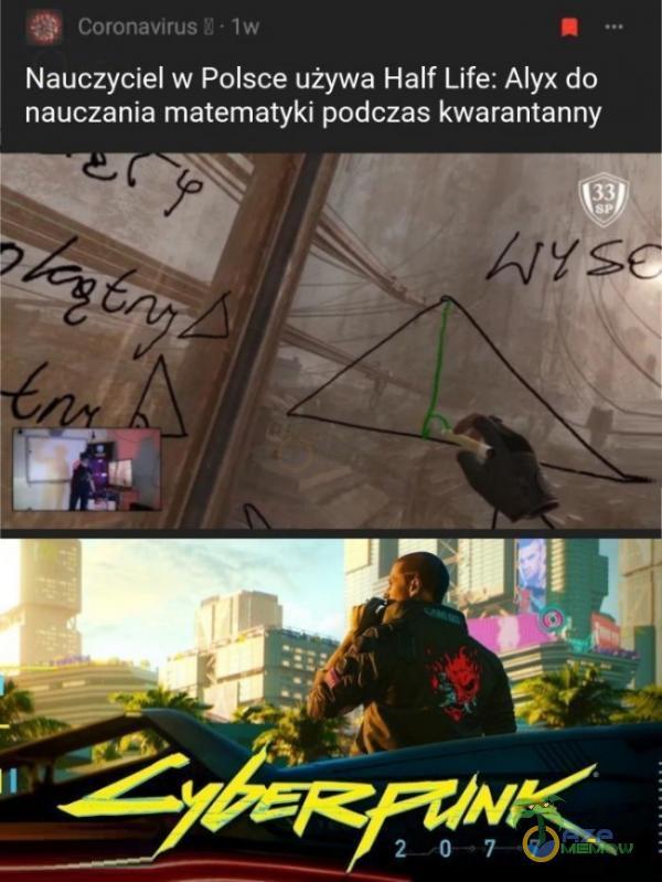 Nauczyciel w Polsce używa Half-Life: Alyx do nauczania matematyki podczas kwarantanny