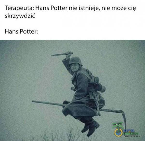 Terapeuta: Hans Potter nie istnieje,nie może cię. skrzywdzić Hans Potter: