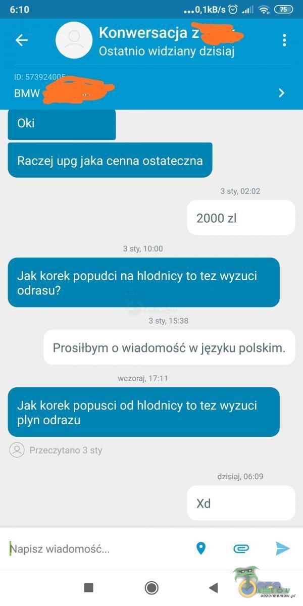 """""""JJW/SGS ..i %:; : Raczej upg jaka cenna ostateczna 3 zly, Lil 02 2000 zl 3 EII IV 1DECI J Jakikomk pepudci na hlód nioy te tez-wyzucii adresu? _nilyl METR Prosiłbym 0» wiadomość: w języku polskim. wmmp NTI Jak korek pap.:usci od hlndnicy ta..."""