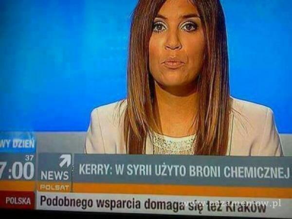 37 KERRY: W SYRII UŻYTO BRONI CHEMICZNEJ NEWS Podobnego wsparcia domaga się też Kraków