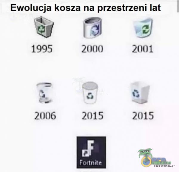 Ewolucja kosza na przestrzeni lat air—aa 1995 2llll() 21101 ._ (: : 1 zł 2006 2015 2015