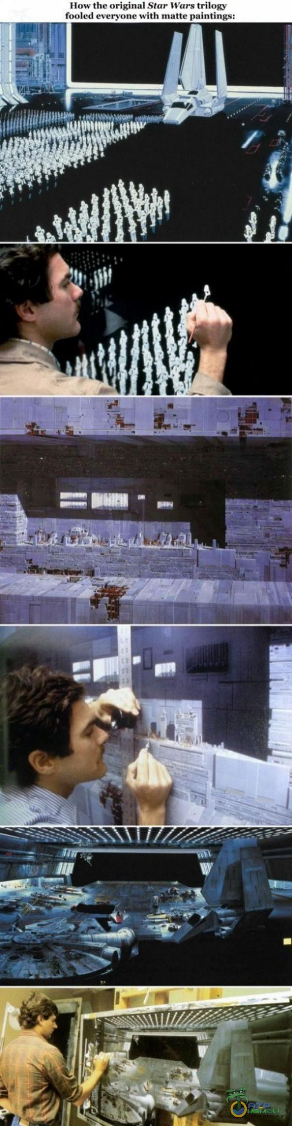 How the original Star Wars trilow fooled everyone with matte paintings: