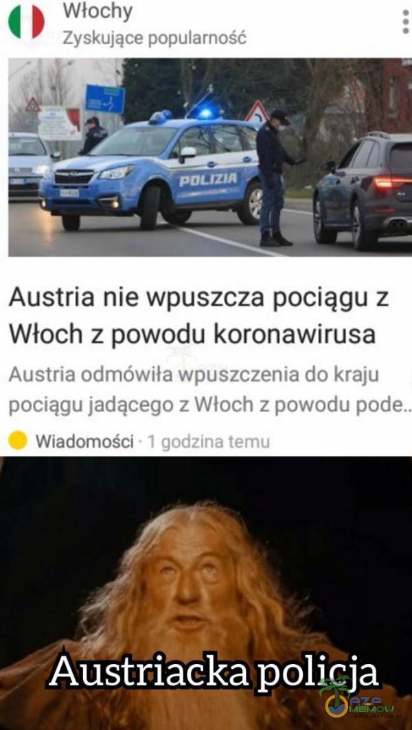 Austria nie wpuszcza pociągu z Włoch z powodu koronawirusa Aistrią cka policja