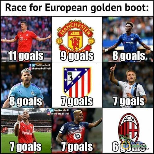 Race for European golden boot: Ggoals 9 goals 7 goals 7 gpals goals s7 goils 6 goals