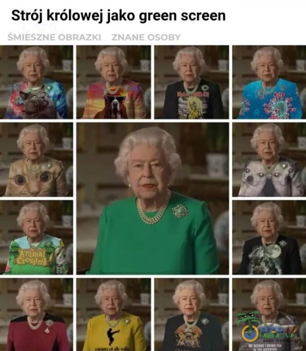 Strój królowej jako green screen