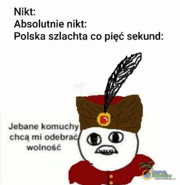 Nikt: Absolutnie nikt: Polska szlachta co pięć sekund: