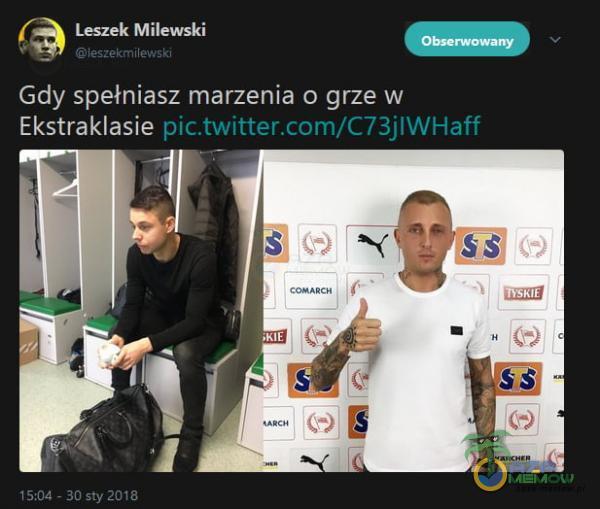 Leszek Milewski ieszekm Gdy spełniasz marzenia o grze w Ekstraklasie 15:oa - 30 sty 2018