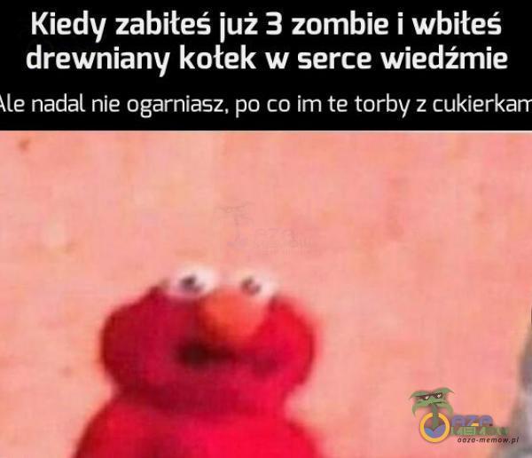 Kiedy zabiłeś już 3 zombie i wbiłeś drewniany kotek w serce wiedźmie nadal nie ogarniasz, po co im te torby z cukierkarr