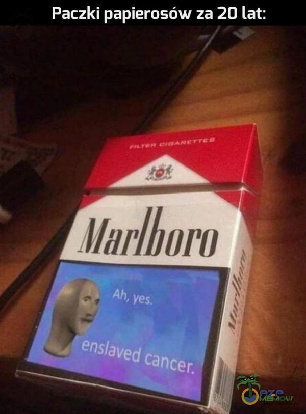 Paczki papierosów za 20 lat;