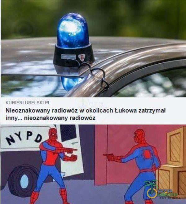 """Nieoznakowany radiowóz w okolicach Łukowa zatrzymał inny"""". nieoznakowany radiowóz"""