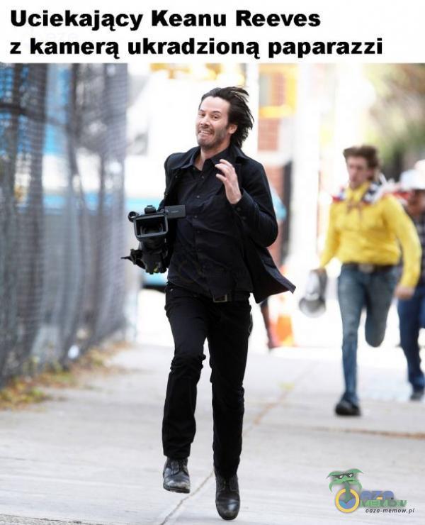 Uciekający Keanu Reeves : kamerą ukradzioną paparazzi ? I