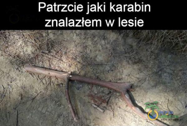 Patrzcie jaki karabin znalazłem w lesie SE -