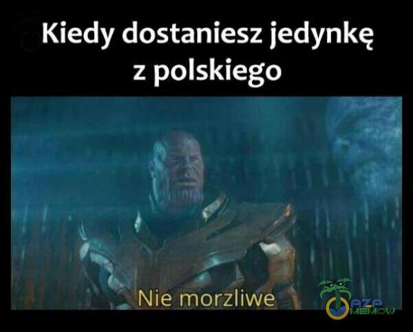 Kiedy dostaniesz jedynkę z polskiego Nie morzliwę