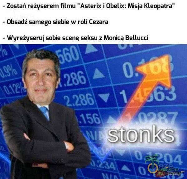 ~ Zostań reżyserem filmu Asterix i Obelix: Misia Kleopatra - Obsadż samego siebie w roli Cezara - Wyreżyserui sobie scene seksu : Monica Bellucci