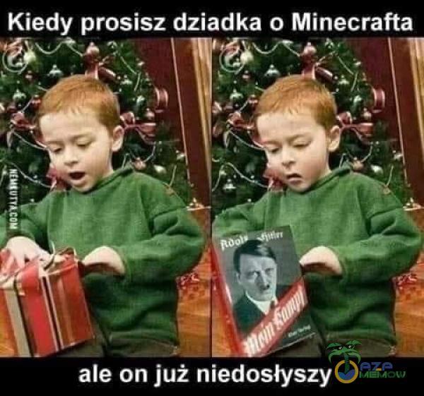 Kiedy prosisz dziadka o Minecrafta ale on już niedosłyszy