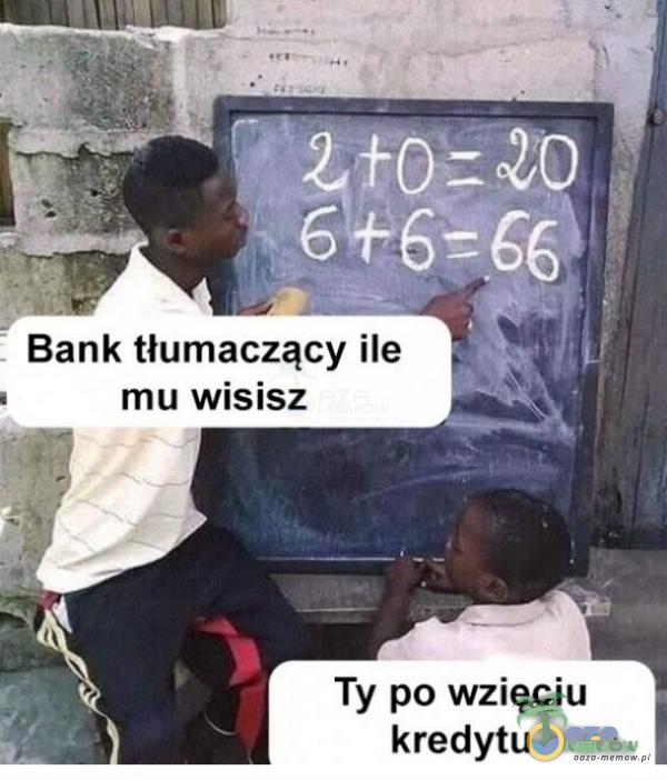 Bank tłumaczący ile mu Wisisz Ty po wzięciu kredytu