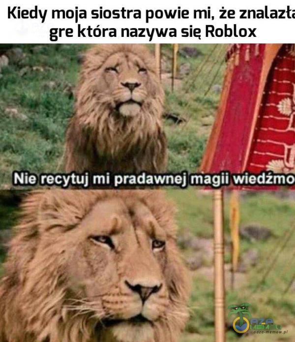 Kiedy moja siostra powie mi, że znalazt: gre która nazywa się Roblox