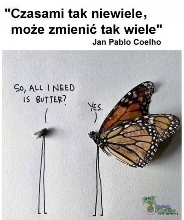 Czasami tak niewiele, może zmienić tak wiele Jan Pablo Coelho Gb, ALL NEED js BoTTER? l