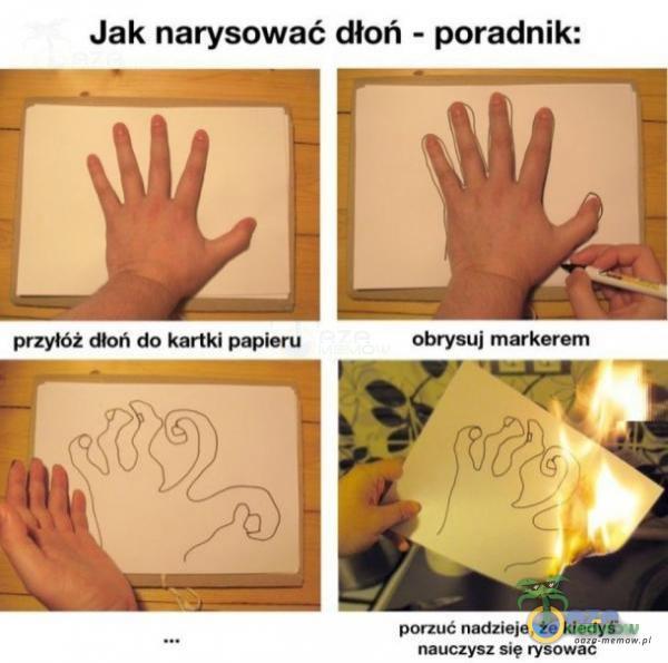 Jak narysować dłoń ~ poradnik: obrysu] marmuru wm: «wkle- łe Muay! mum sle uć