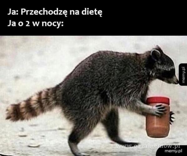 Ja: Przechodzę na dietę Ja 0 2 w nocy: merny