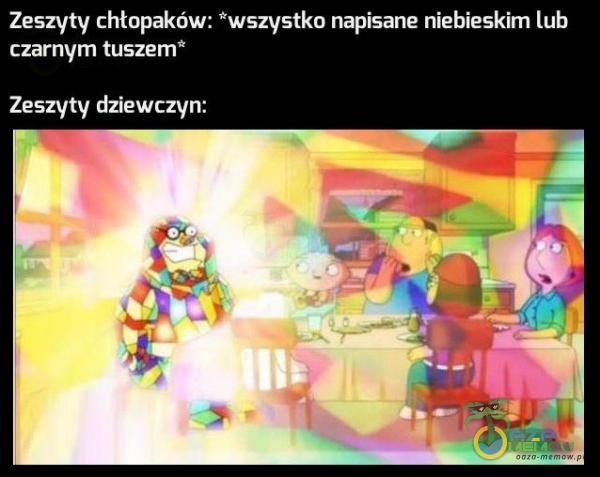 Zeszyty chtopaków: *wszystko napisane niebieskim lub is OUYLzLd PZA wa
