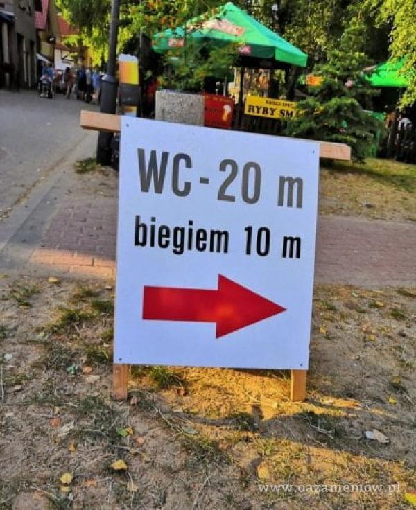 RYBY WC-20 m biegiem 10 m